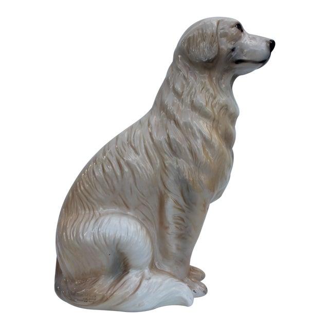 Italian Ceramic Dog Statue - Image 1 of 7