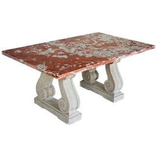 French Marble-Top Center Table For Sale