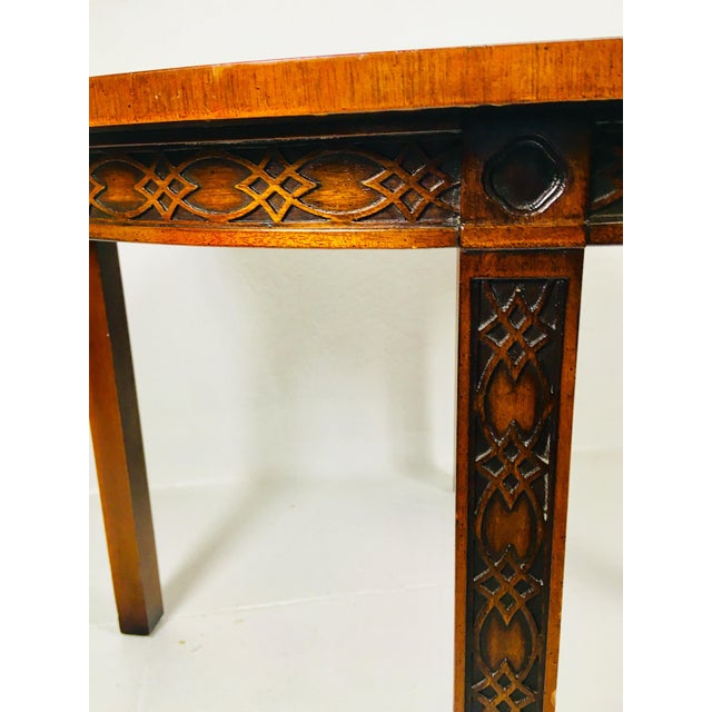 1950s Chippendale Kindel Mahogany Center Table For Sale - Image 9 of 11