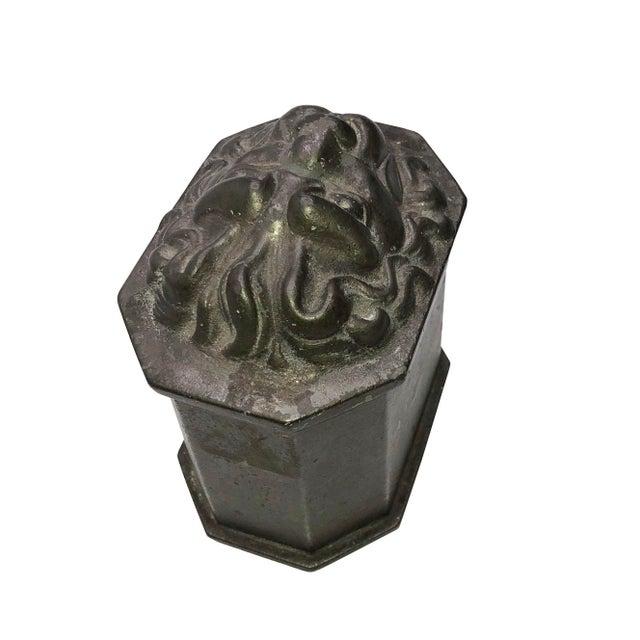 1940s Vintage Lion's Head Box For Sale - Image 5 of 7