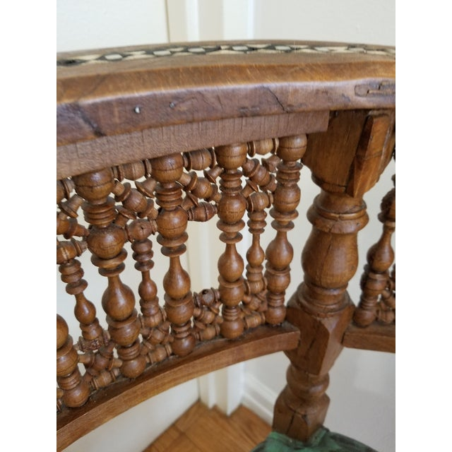 Wood Early 20th Century Moroccan Side Chair For Sale - Image 7 of 12