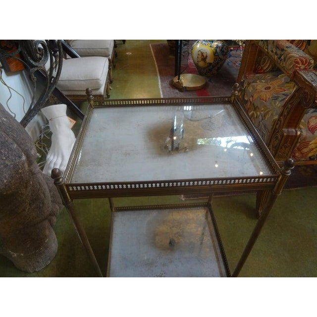 1940s 1940's French Maison Bagues Attributed Bronze Table For Sale - Image 5 of 13