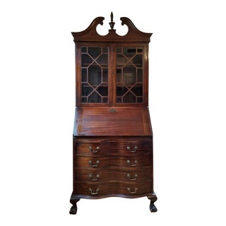 Maddox Table Company of Jamestown New York Mahogany Secretary Desk For Sale