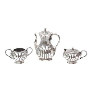 Signed Sterling Silver Hallmarked Mid Century Modern Sanborn Tea/Coffee Service