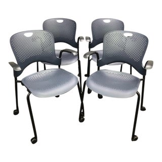Herman Miller Caper Stacking Chairs- Set of 4 For Sale