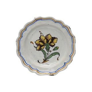 18th-C. French Faience Decorative Plate For Sale