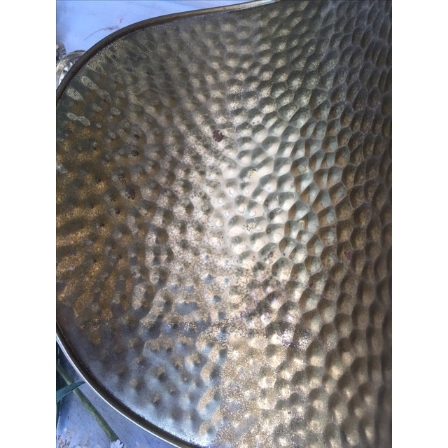 Hammered Brass Flower Basket - Image 8 of 8
