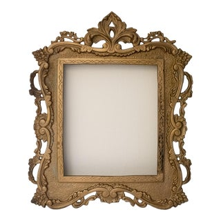 Early 20th Century Cast Metal Gilded Picture Frame For Sale