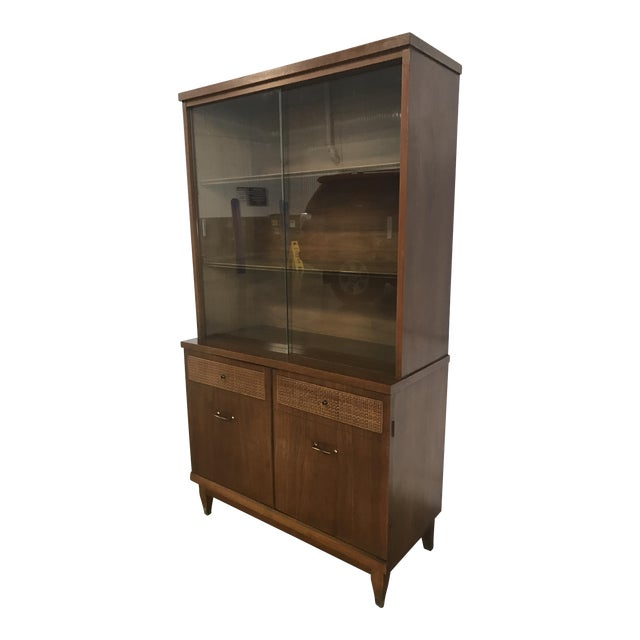 Mid-Century Walnut China Cabinet - Image 1 of 9