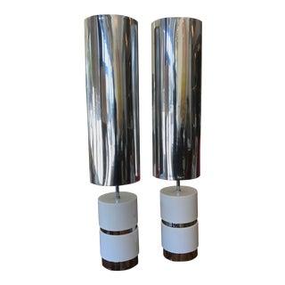 1970s Mid-Century Modern Pierre Cardin Lamps - a Pair