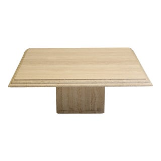 Modern Travertine Coffee Table For Sale