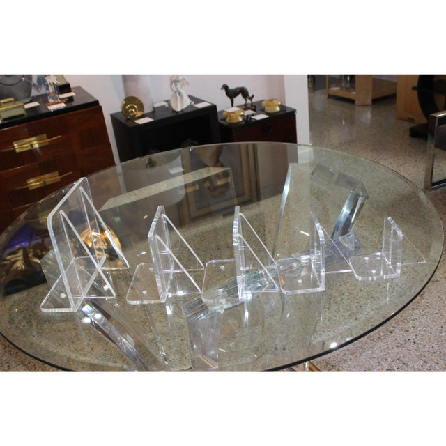 Plastic Collection of Lucite Wall Brackets - Set of 6 For Sale - Image 7 of 12