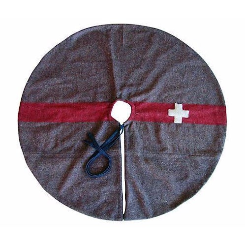 Custom Swiss Wool Blanket Christmas Tree Skirt - Image 1 of 6
