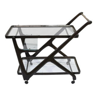 1950s Italian Mid-Century Modern Serving Bar Cart, Ico Parisi For Sale