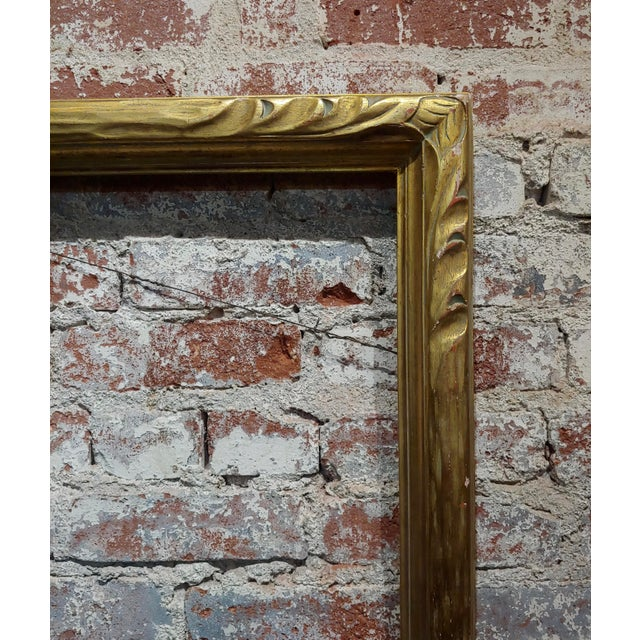 """Art Nouveau 24x30"""" Gilt Wood Frame -C1900s For Sale - Image 4 of 11"""