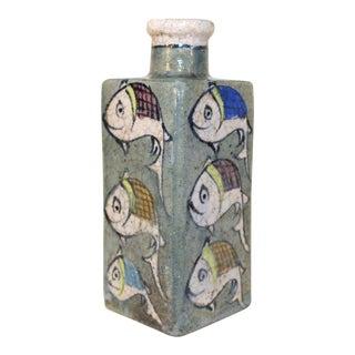 Vintage Square Japanese Sake Bottle For Sale