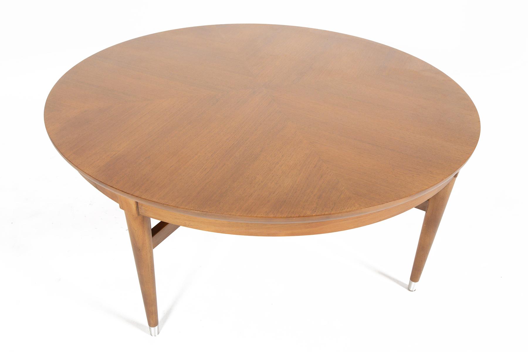 Superieur B.P. John Round Walnut Coffee Table   Image 4 Of 8