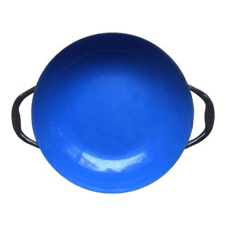 Small Blue Enamel Paella Pan
