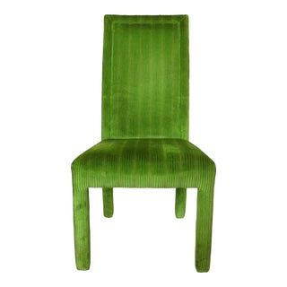 Set of 8 Dining Chairs in Vintage Classic Green Color For Sale