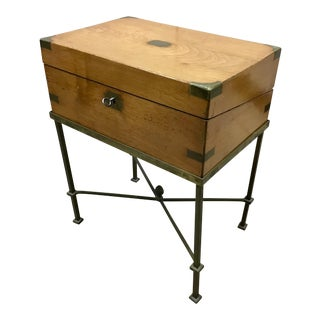 19th Century English Lap Desk on Brass Stand For Sale