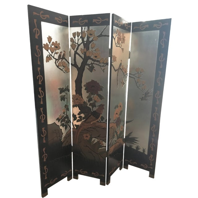 Vintage Hand-Carved Asian Screen - Image 1 of 8