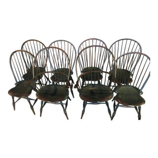D.R. Dimes Windsor Dining Chairs - Set of 8 For Sale