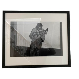 "CB2 ""Miles Davis and His Trumpet"" Black and White Photograph For Sale"