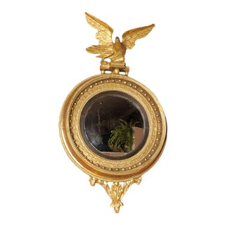 Early 19th Century Regency Convex Mirror For Sale