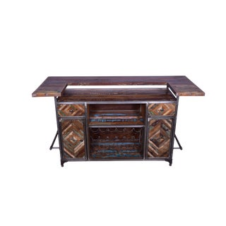 Early 21st Century Vintage Javier Home Bar Counter For Sale