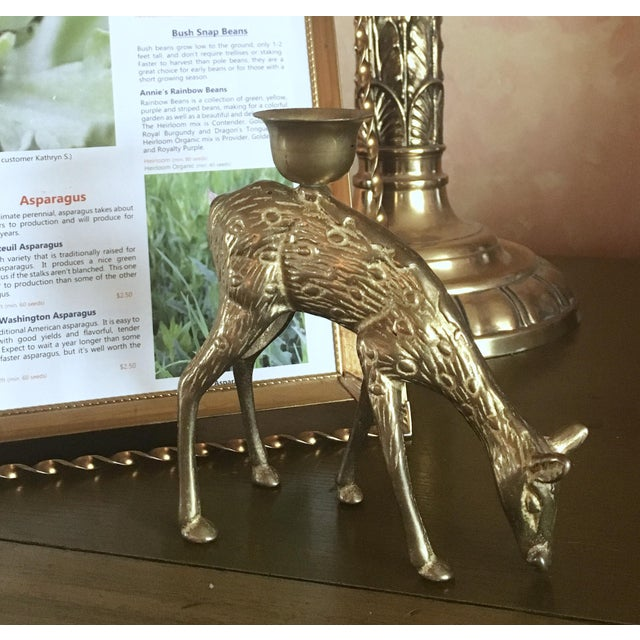 Brass Doe Candle Holder - Image 4 of 5