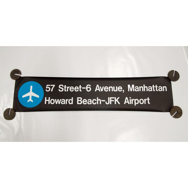 """Vintage New York """"Train to the Plane"""" Subway Sign - Image 2 of 5"""