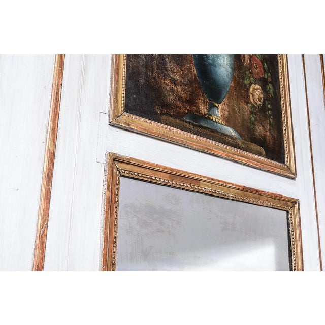Late 19th Century Antique Trumeau Mirror With Painting For Sale - Image 5 of 8