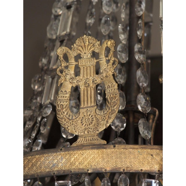 19th Century Empire Crystal Chadelier - Image 7 of 9