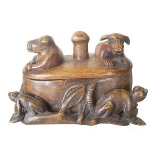1980s Folk Art Belizian Wooden Box For Sale