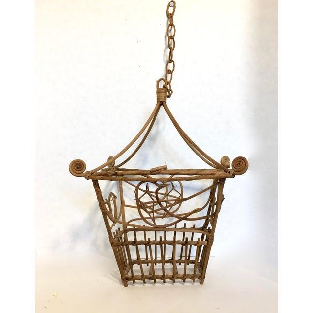Vintage Wicker Pagoda Bird Cage - Image 2 of 4