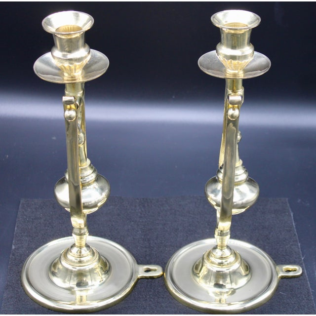 Brass Ship Gimbal Candlestick Wall Sconces - a Pair For Sale - Image 10 of 12