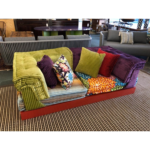 Blue Missoni Mah Jong Sectional by Roche Bobois For Sale - Image 8 of 13