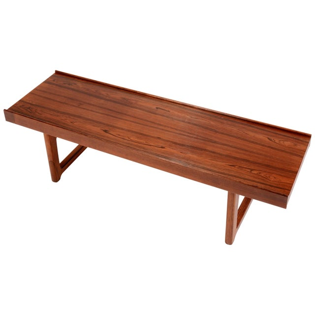 "Torbjorn Afdal for Bruksbo Norway ""Korbo"" Bench in Rosewood For Sale In Los Angeles - Image 6 of 6"