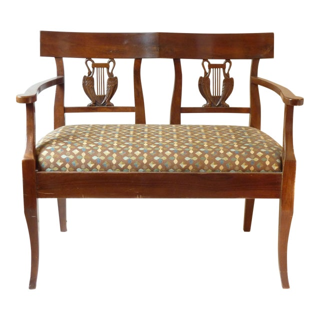French Country Walnut Settee For Sale