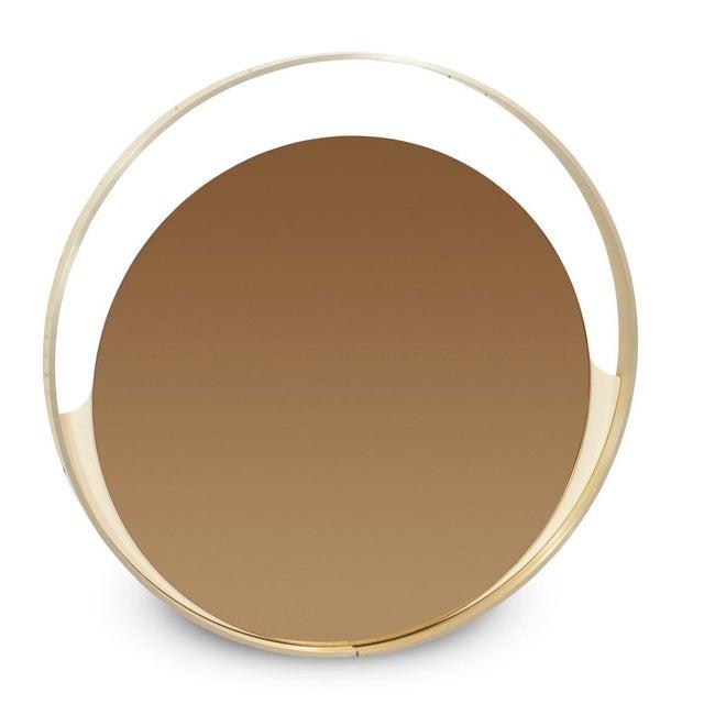 Rimadesio Rimadesio Round Bronze Mirror For Sale - Image 4 of 4