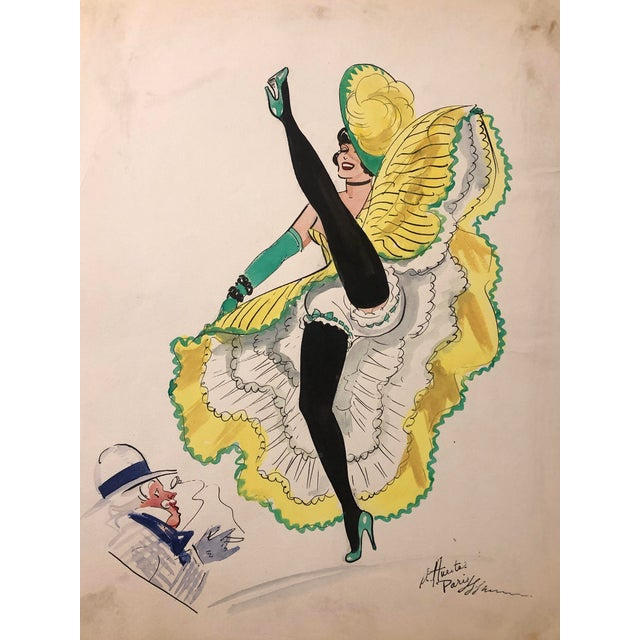 Mid-Century Parisian Can Can Dancer by Alice Huertas For Sale