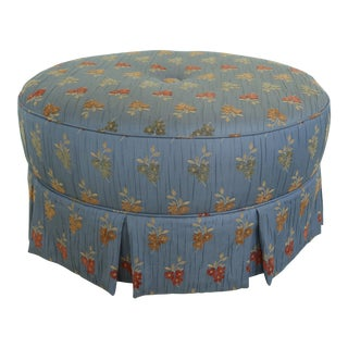 Round Custom Embroidered High Quality Upholstery Ottoman For Sale