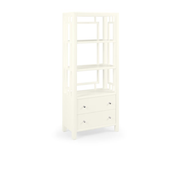 Transitional Devon Bookcase, Cloud White For Sale - Image 3 of 3