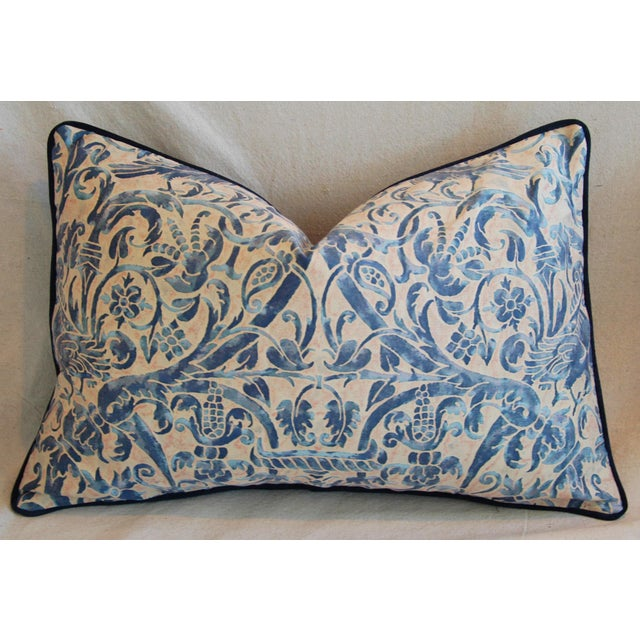 Italian Fortuny Uccelli Down Pillows - A Pair - Image 11 of 11