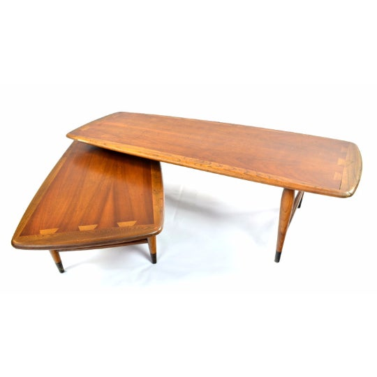 Original Mid Century Modern cocktail table with two sections manufactured by Lane Furniture Company from the 'Lane...