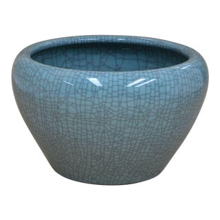 Sarreid LTD Hand Made Crackle Glaze Bowl For Sale