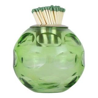 Glass Match Striker, Green