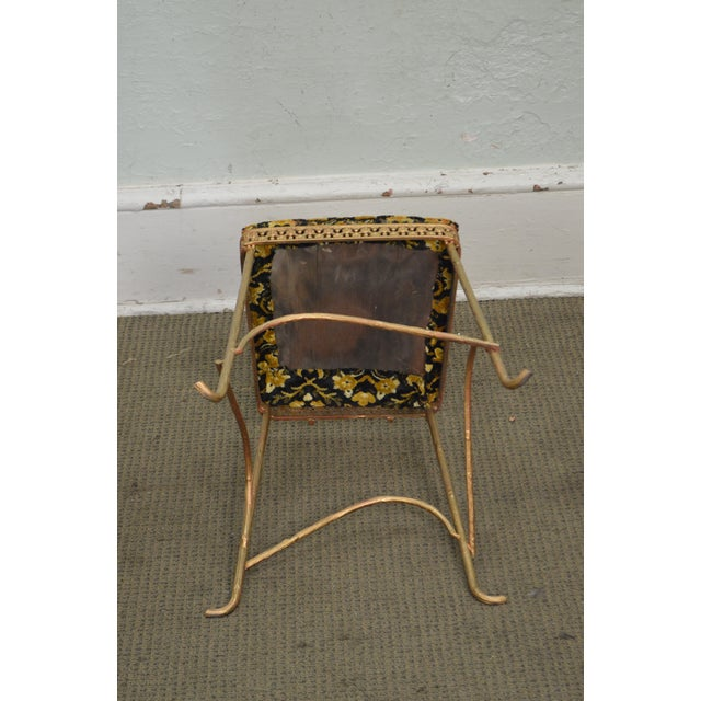 Antique Gilt Metal Faux Bois Aesthetic Side Chair For Sale - Image 9 of 11