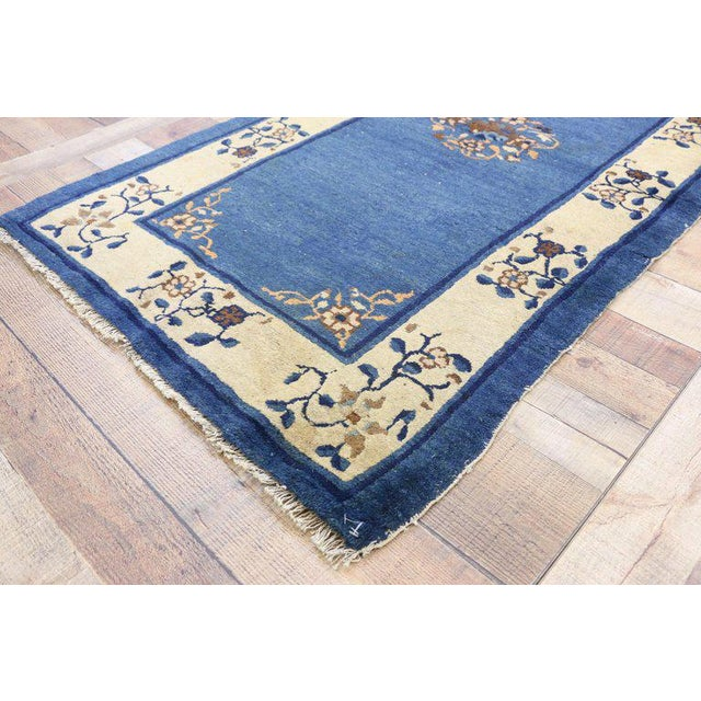 """Early 20th Century Early 20th Century Antique Chinese Peking Accent Rug - 3'00"""" × 5′9″ For Sale - Image 5 of 8"""