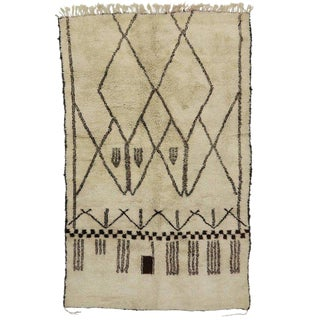 Early 21st Century Contemporary Bauhaus Berber Moroccan Rug- 6′11″ × 11′ For Sale